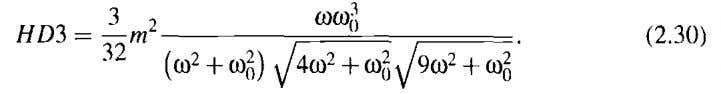 order harmonic distortion equation (A.39) is simplified to By assuming Equation (2.29) simplifies to Equation (2.24)