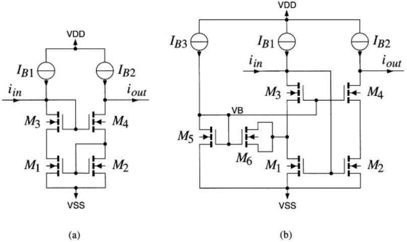 2.1 Current-mirror 29 lar nonideality as the base current in bipolar circuits. This nonideality is decreased