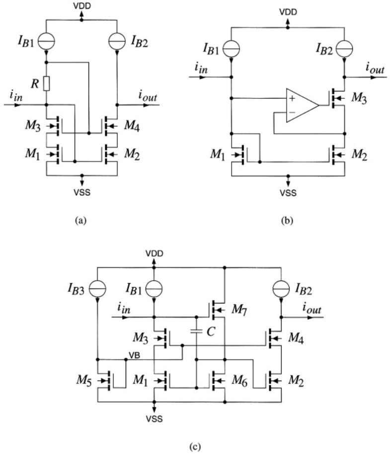 34 Basic current amplifiers