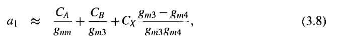 transfer function becomes a third order function with a left half-plane zero where the coefficients of