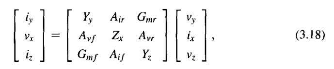 matrix representation with linear nonidealities [13] is where and are the conveyor voltage and curren t