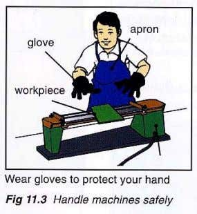 should only be operated by the person using the machine Good Housekeeping Keep your work area