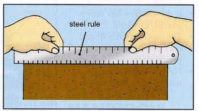 of an edge can be checked with the use of a steel rule. Use a try