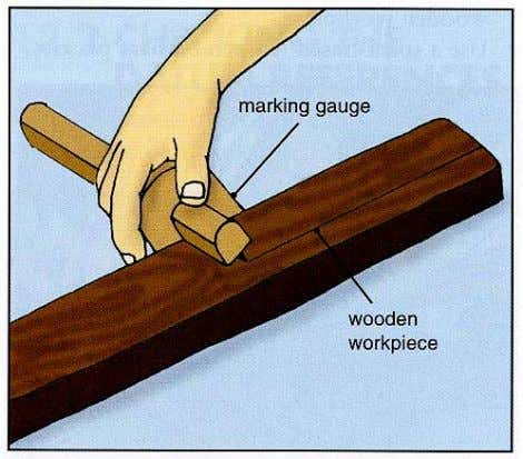 mark lines parallel to the face side or face edge on a wooden workpiece. A marking