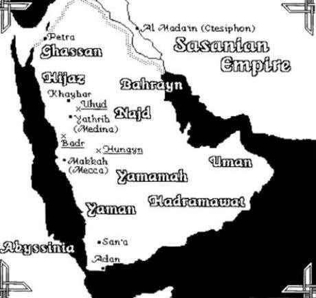 preachers and contacts with the converted border people (2). Map af Ancient Arabia MEDICINE IN THE