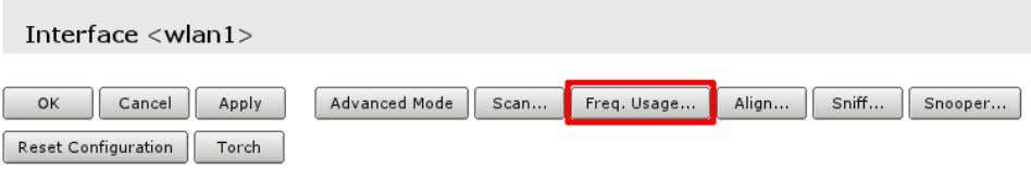Freq. Usage that is located in wireless interface details; • Wait for some time as scan