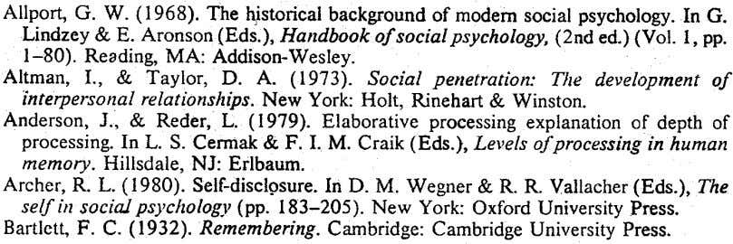 Allport, G. W. (1968). The ~istorical background of modem social psychology .. Lindley & E. Aronson
