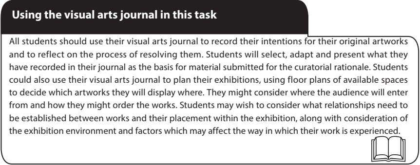 Using the visual arts journal in this task All students should use their visual arts