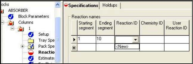 give the reaction a name, but its default should be R-1 . o Under the Reactions