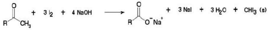 X is halogen) through the process of halogenation. (6,7) Figure 9. Reaction of Methyl Ketone with