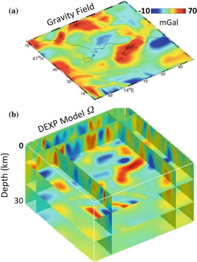 in Geophysics: Application to Potential Fields … 13 Fig. 4 The DEXP imaging. a Bouguer gravity