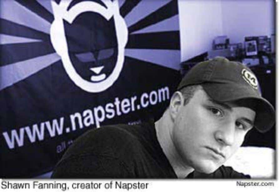 ethos as a blend of college-age music fan and hacker. Figure 3. An image from Napster's