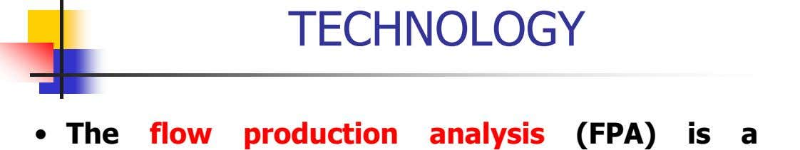 TECHNOLOGY • The flow production analysis (FPA) is a