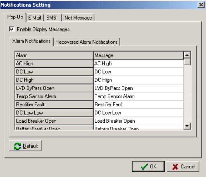 (for example, a pop-up window and an audio notification). Figure 6: Notification Settings Window – Pop-up