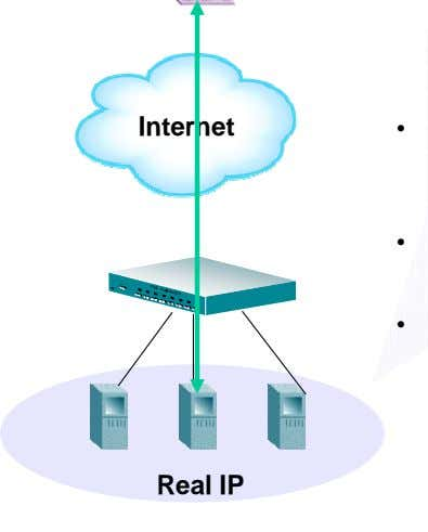 Internet • • • Real IP