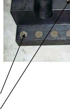 It is securely tightened to the track press table. 12 OR 14 MOUNTING HOLES TAPPED HOLE