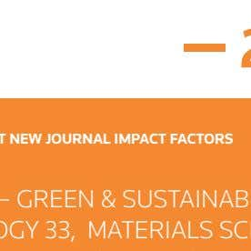 2016 CATEGORY WITH MOST NEW JOURNAL IMPACT FACTORS NEW CATEGORY — GREEN & SUSTAINABLE SCIENCE &