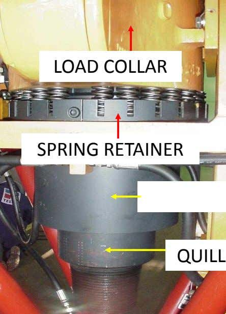 LOAD COLLAR SPRING RETAINER QUILL