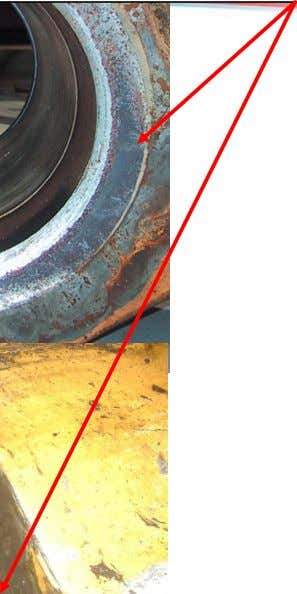 LOAD COLLAR WITH DAMAGE FROM ROTATING WITH WEIGHT ON BAILS CHECK THIS AREA FOR WEAR B