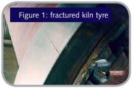 Figure 1: fractured kiln tyre