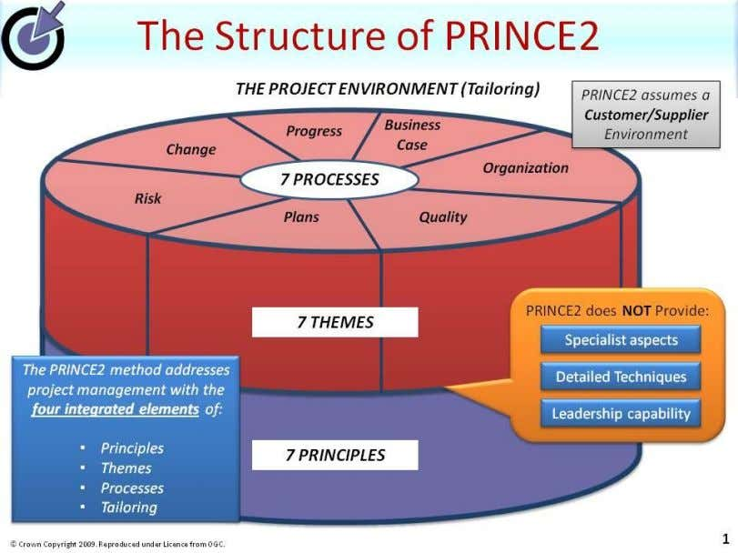PRINCE2 Walkthrough and Roadmap 17 Any known risks are captured and managed within the Daily Log