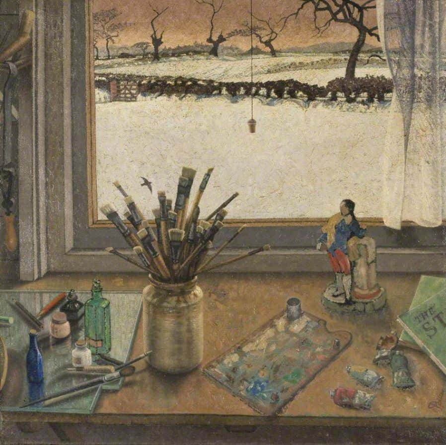 "Anne Tennent ""View from the studio"" 1930, oil on canvas. This is one of a few"
