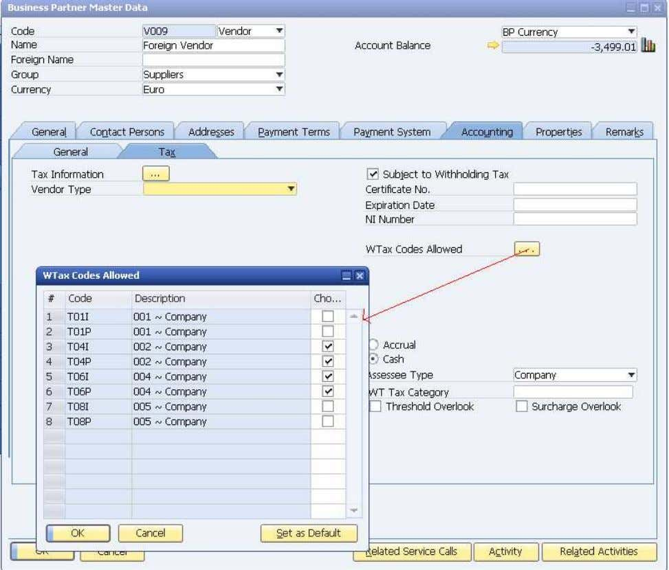 find Wtax code defined for Company in Wtax allowed window. Field Name Description Type/Length Field Status
