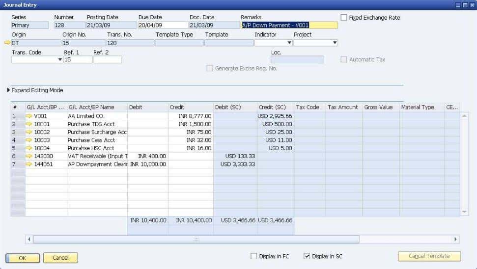 How to Use Tax Deduction at Source (TDS) © SAP AG 2009 31