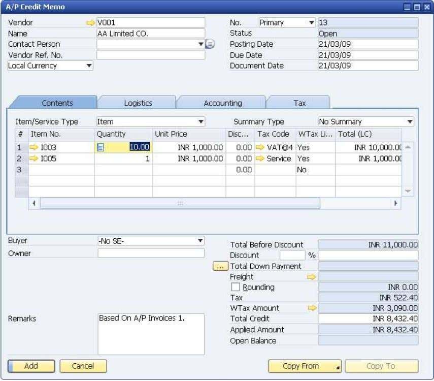 How to Use Tax Deduction at Source (TDS) © SAP AG 2009 40