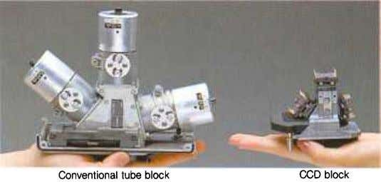 Conventional tube block CCD block