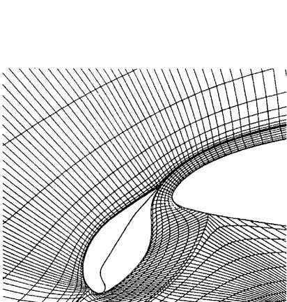 layer inter- action (confluence) effects in the method. Fig. 17. Streamline grid depicting flow separation on