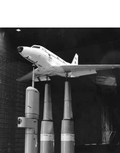 ceiling, floor, and side walls, and a test-section length Fig. 47. Full-scale T-39 in test section