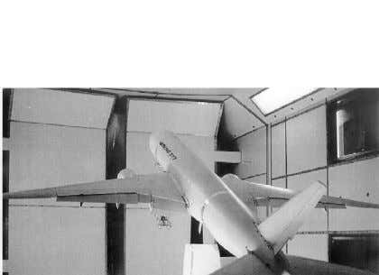 configuration mounted in the DERA 5 m test section. Fig. 49. Full model of B777-200 in