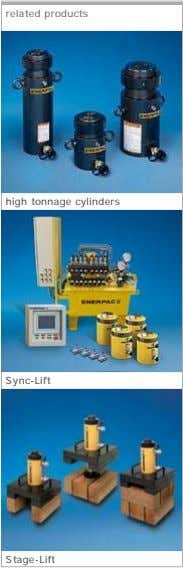 related products high tonnage cylinders Sync-Lift Stage-Lift