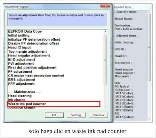 solo haga clic en waste ink pad counter