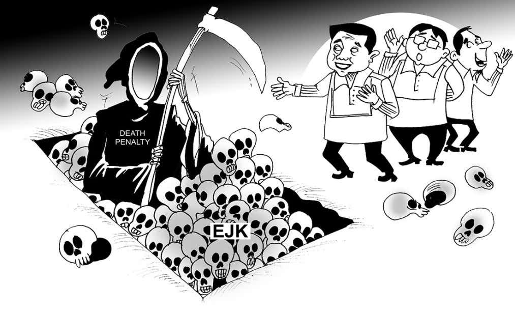 EDITORIAL Killing fields GOING six months and with about 6,000 people dead, the Duterte government does