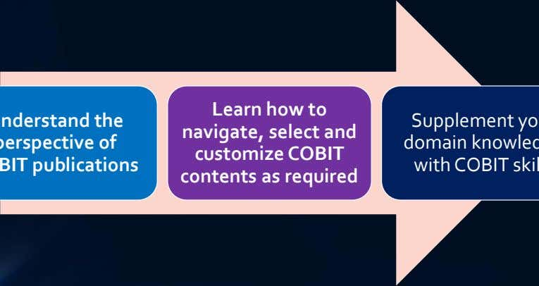 Learn how to navigate, select and customize COBIT contents as required