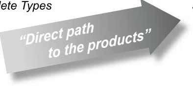 "ete Types ""Direct path to the products"""