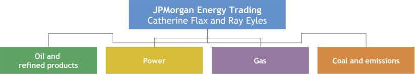 JPMorgan Energy Trading Catherine Flax and Ray Eyles Oil and Power Gas Coal and emissions