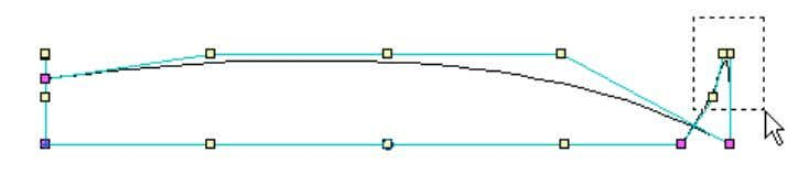 is use a multiple selection on edge # 2 (the bow) like this: With these edge