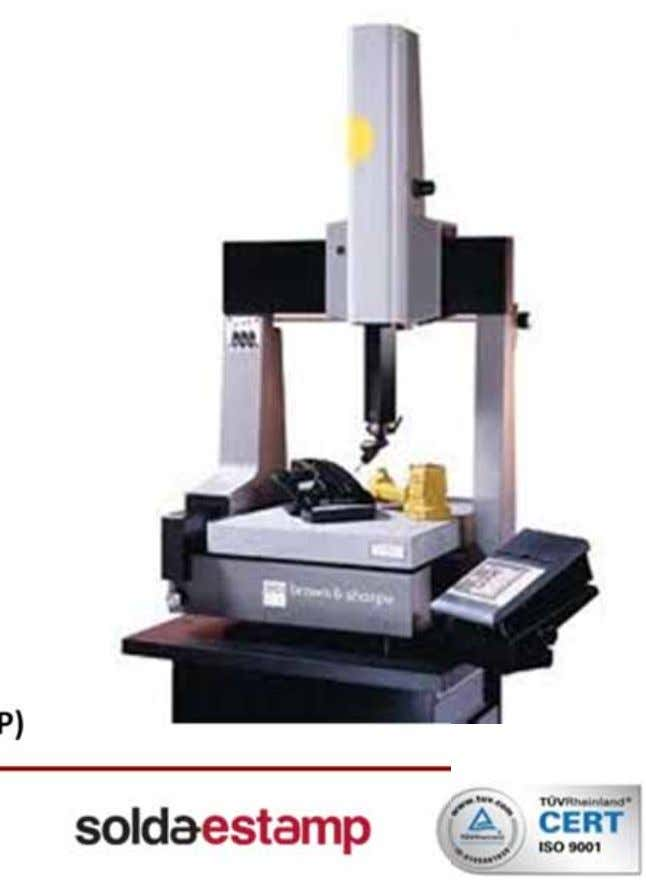 CMM (Tridimentional Coordinate Measuring Machine) • Table measures: 500 mm x 450 mm x 400mm •