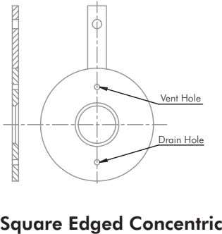 Vent Hole Drain Hole Square Edged Concentric