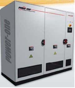 • Less cost per Wp than string inverter • Easier operation and maintenance for large scale
