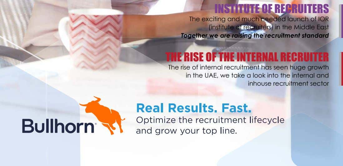 INSTITUTE OF RECRUITERS The exciting and much needed launch of IOR (institute of recruiters) in