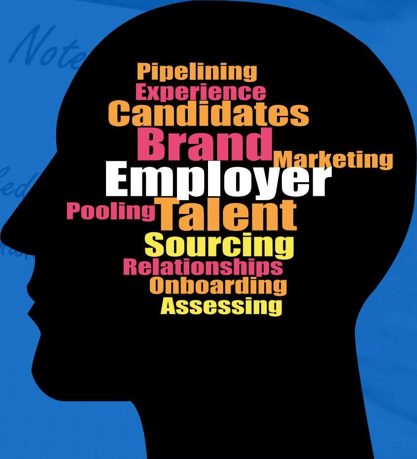 Pipelinin g Experienc e Candidates Brand Marketing Employer Pooling T alent Sourcing Relationship s Onboarding