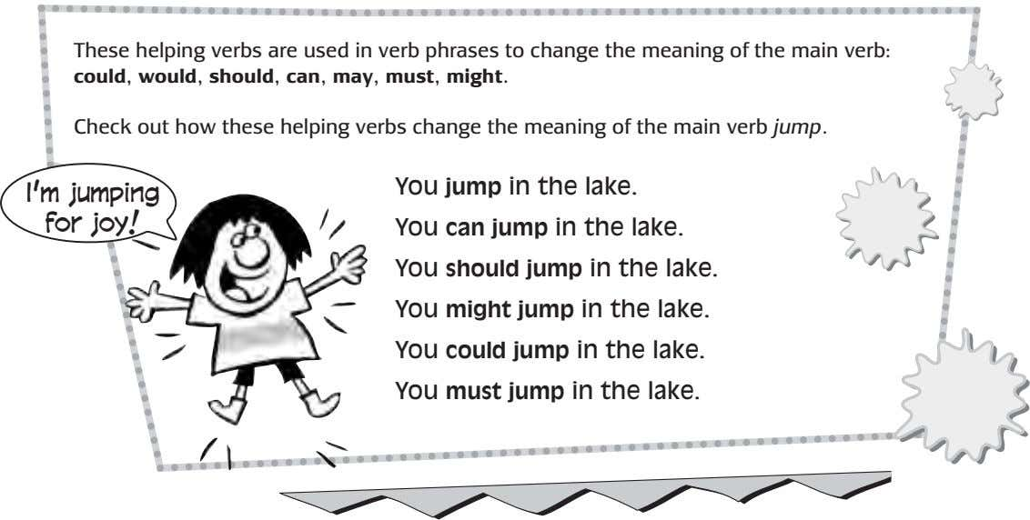 These helping verbs are used in verb phrases to change the meaning of the main
