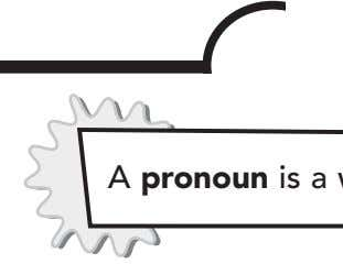 Name What Is a Pronoun? With a pronoun, you don't have to keep repeating the same