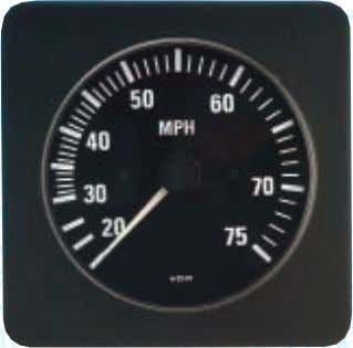 styling. Round bezels may be purchased as an accessory kit. 260 203 333 209 SPEEDOMETER, Pitot