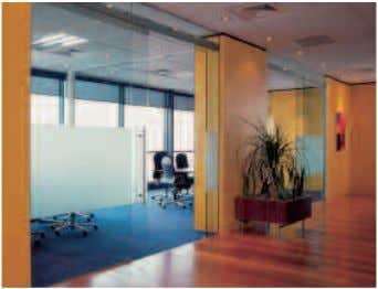 an aesthetically pleasing installation is a high priority. aluminium framed glazed panels. Non-door uses are also