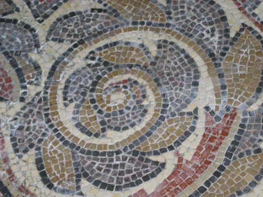 Roman mosaic, Chedworth, England You cannot apply mathemathics as long as words still becloud reality.